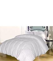 Royal Luxe - Damask Stripe Down Alternative Comforter-Full/Queen