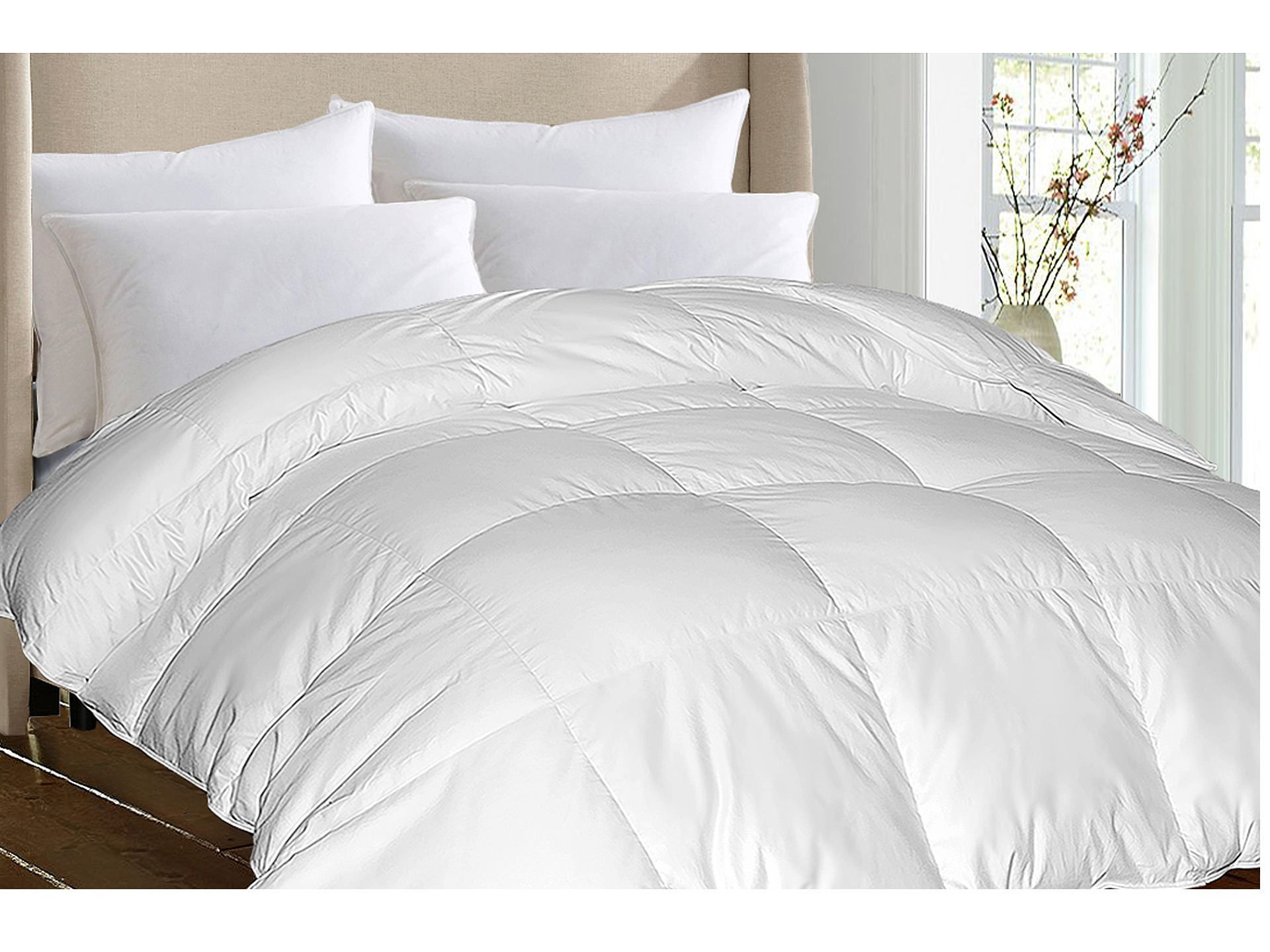 royal luxe damask stripe white goose down white goose feather comforter king shipped free at. Black Bedroom Furniture Sets. Home Design Ideas