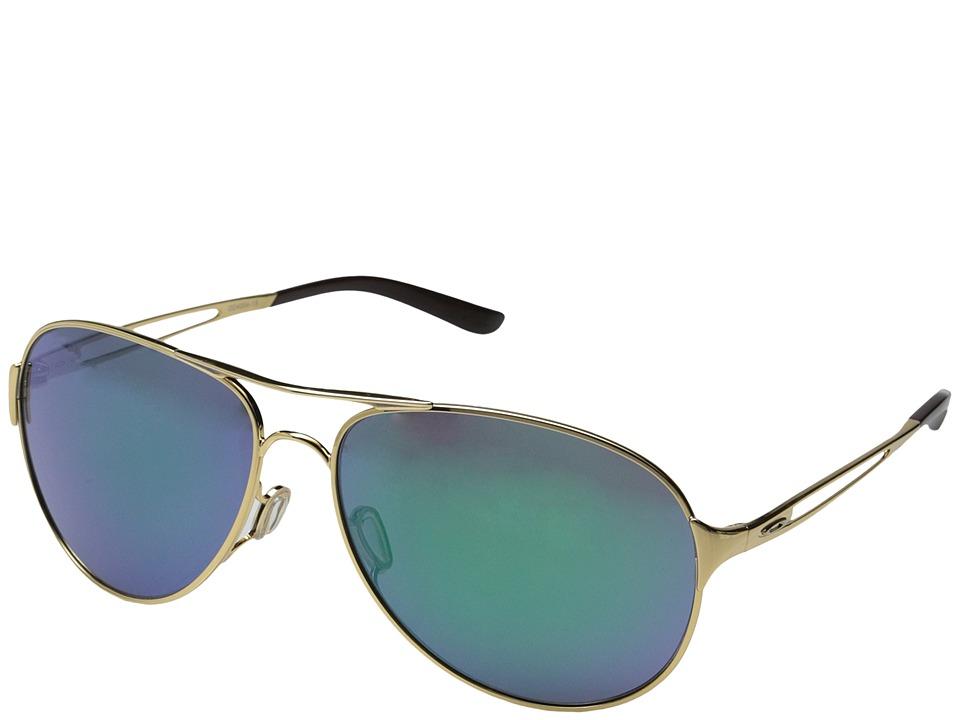 Oakley Caveat Jade Iridium w/ Polished Gold Sport Sunglasses