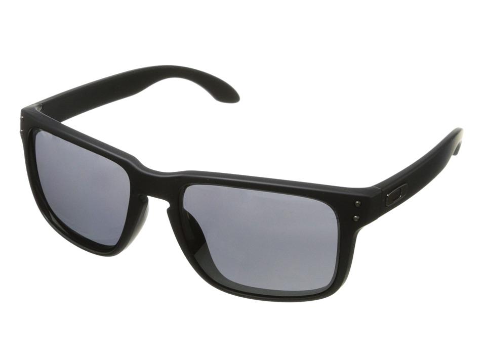 Oakley Holbrook (Black Iridium w/ Matte Black) Sport Sunglasses