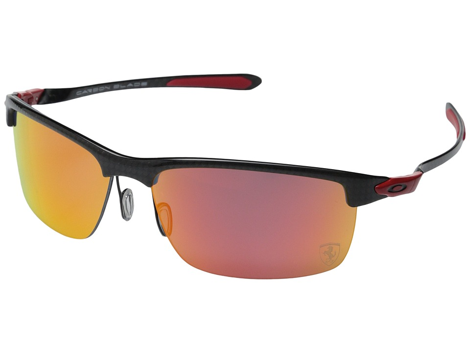 Oakley Carbon Blade Ruby Iridium Polar w/ Carbon Fiber Fashion Sunglasses