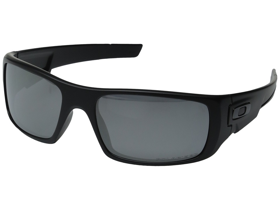Oakley - Crankshaft (Black Iridium Polarized w/ Matte Black) Fashion Sunglasses