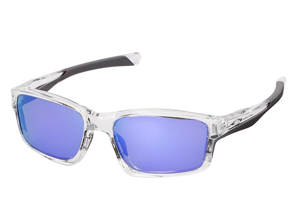 Oakley Chainlink Violet Iridium w/ Polished Clear Fashion Sunglasses