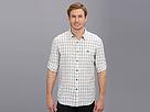 Elie Tahari - Linen Check Steve Shirt J504U504 (Off White/Navy)