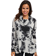 Miraclebody Jeans - Cameron Abstract Print Cowl Neck Top w/ Body-Shaping Inner Shell