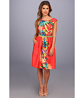 Ellen Tracy  Cap Sleeved Printed Fit and Flare  image