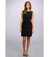 Ellen Tracy  Sleeveless Belted Sheath w/ Bamboo Hardware  image