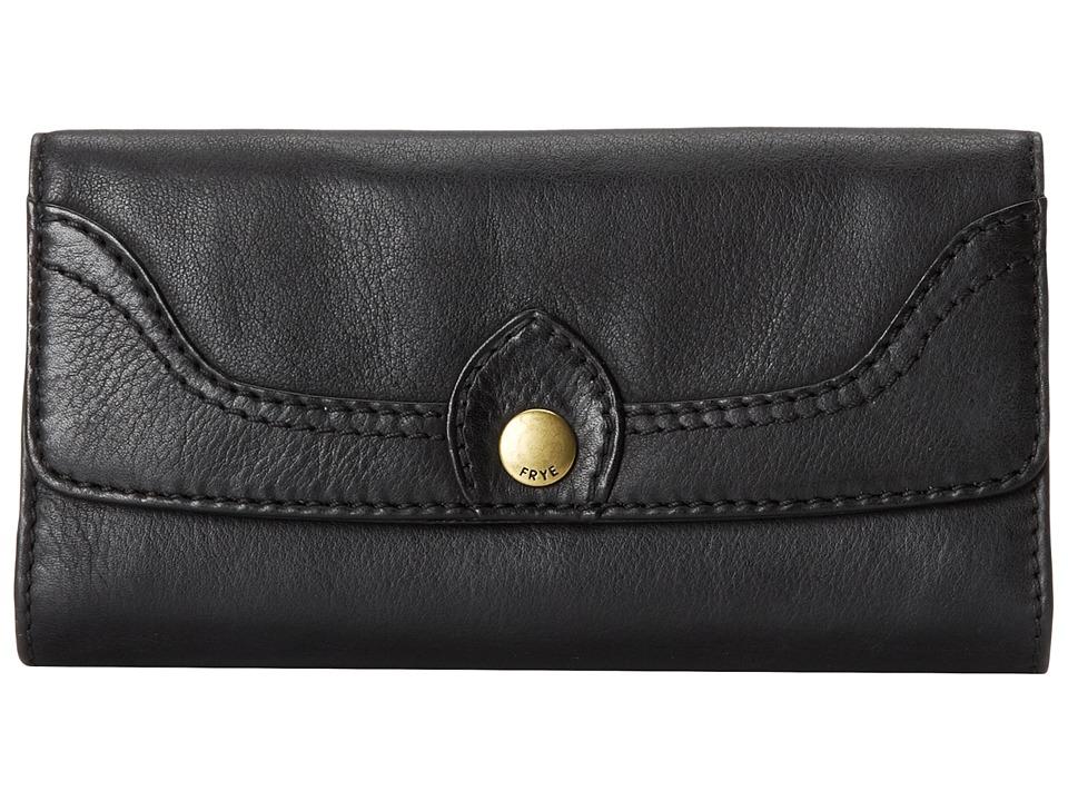 Frye - Campus Large Wallet (Black Dakota) Wallet Handbags