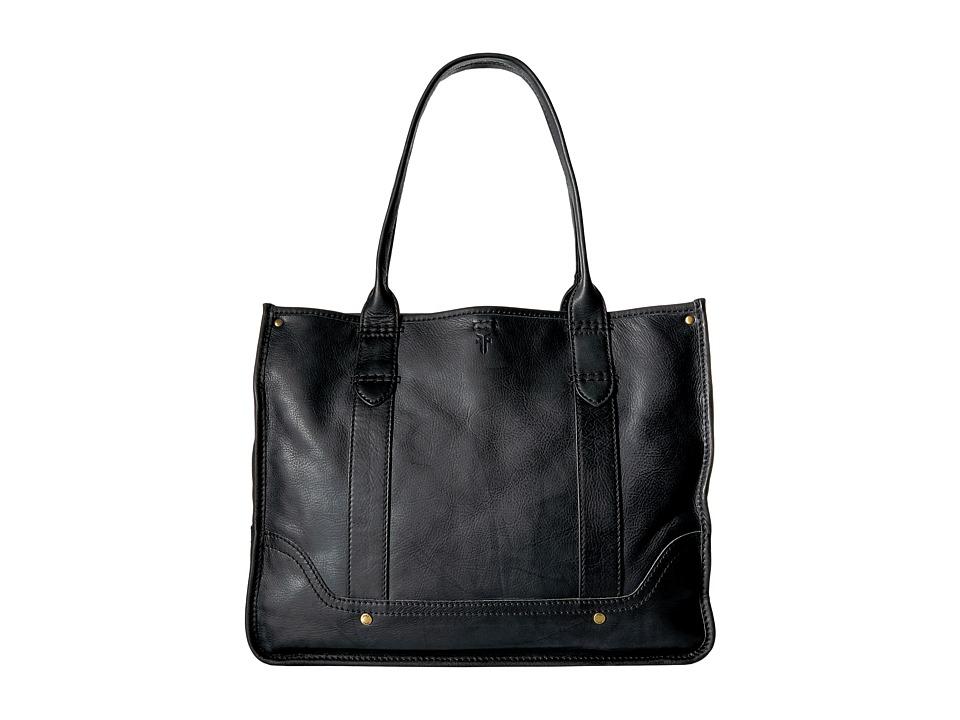 Frye - Campus Shopper (Black Dakota) Tote Handbags