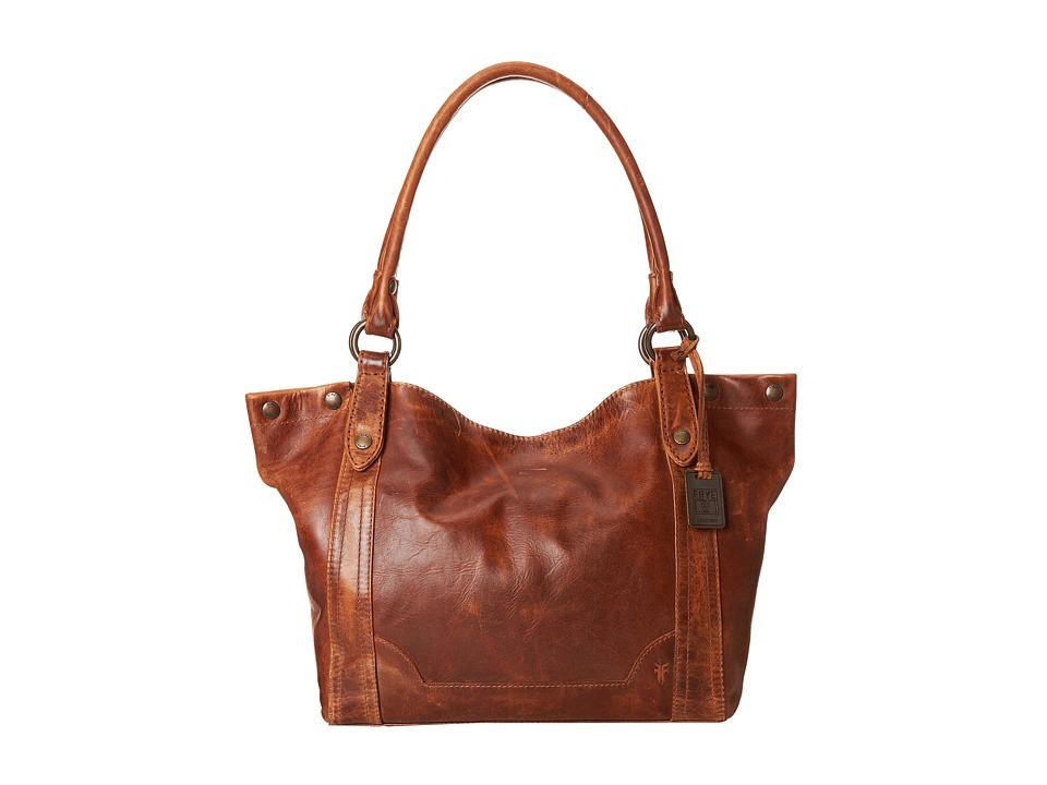 Frye - Melissa Shoulder (Cognac Antique Pull Up) Shoulder Handbags