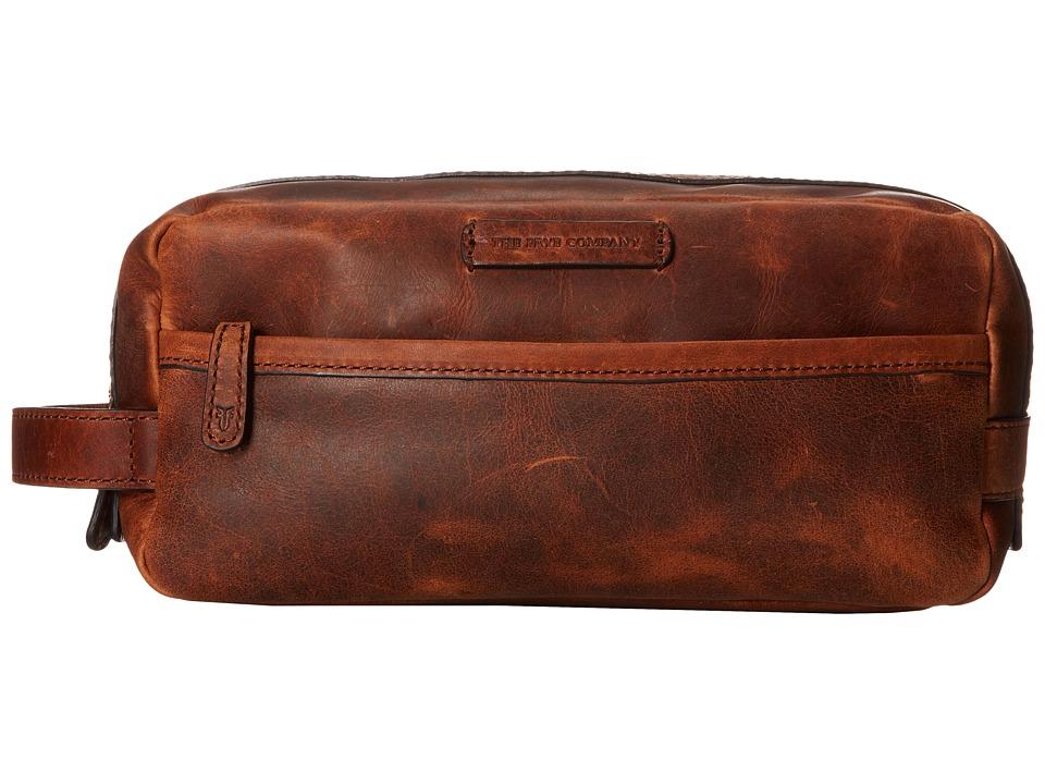 Frye - Logan Travel Dopp Large (Cognac Antique Pull Up) Toiletries Case