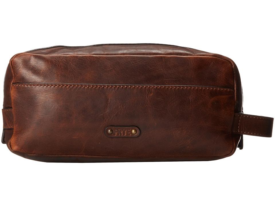 Frye Logan Travel Dopp Large (Dark Brown Antique Pull Up)...