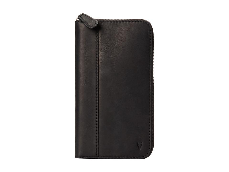 Frye - Logan Travel Wallet (Black Antique Pull Up) Wallet Handbags