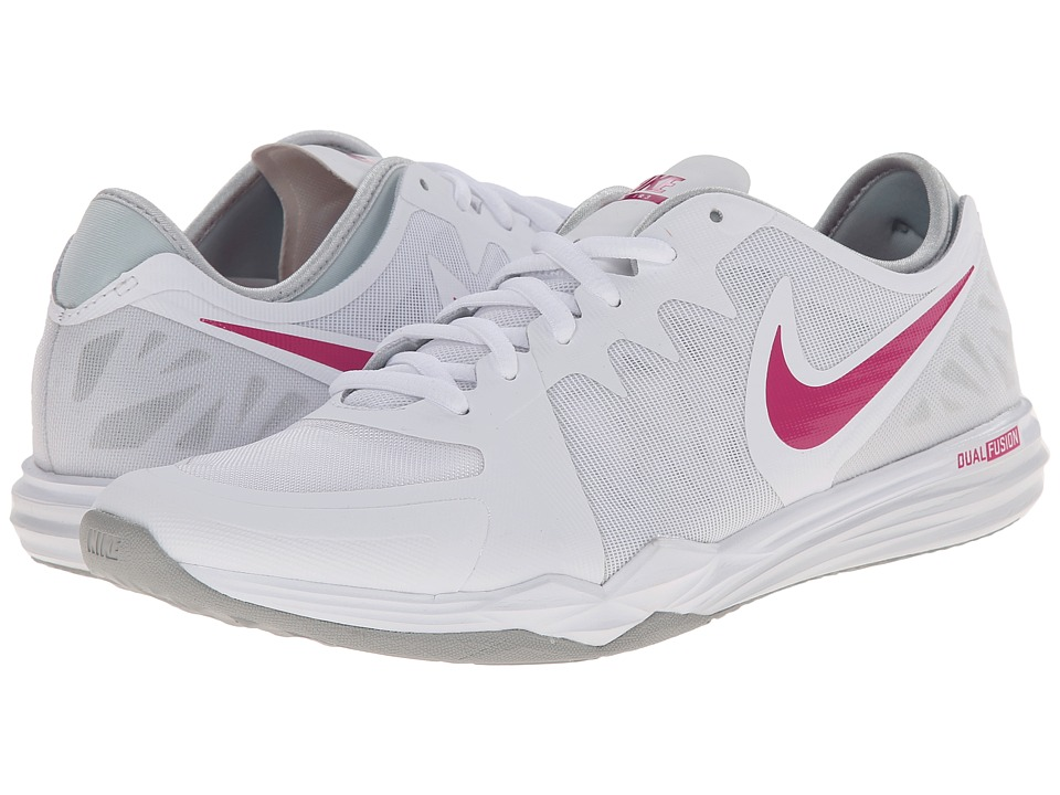 White/Pure Platinum/Wolf Grey/Vivid Pink) Women s Cross Training Shoes