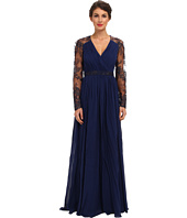 Badgley Mischka - L/S Lace Sleeve Gown