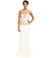 Badgley Mischka - Gold Lace Gown