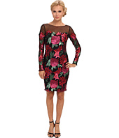 Badgley Mischka - Sequin Floral L/S Cocktail