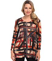 Nally & Millie - Printed L/S Sweater Tunic