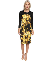Just Cavalli - Long Sleeve Floral Print Dress