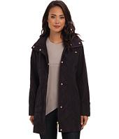 Ellen Tracy  Zip Front Topper w/ Stow Hood Packable Rain  image
