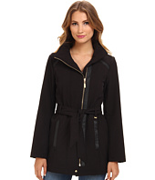 Ellen Tracy  Soft Shell w/ Faux Leather Details  image