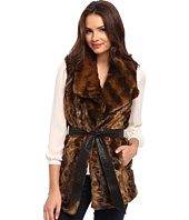 Ellen Tracy  Belted Faux Fur Vest  image