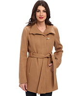 Ellen Tracy  Belted Trench w/ Gold Clip Detail  image
