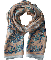 Valentino - Oriental Seasons Wool & Silk Scarf