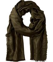 Valentino - V Allover Silk Wool Jacquard Scarf