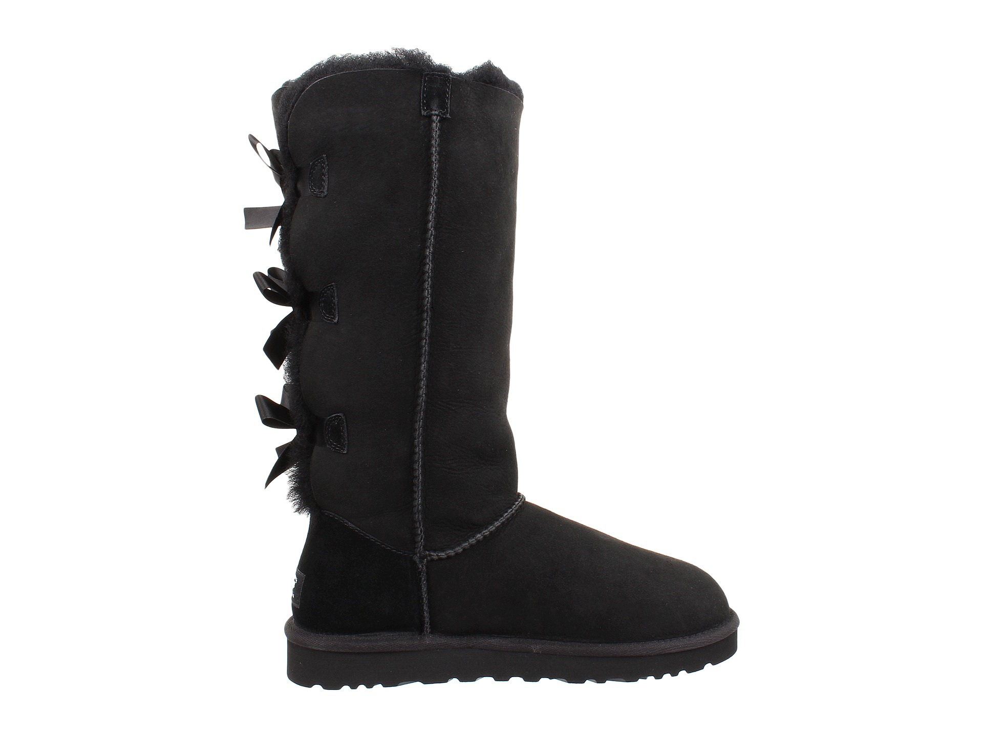 black bow uggs tall
