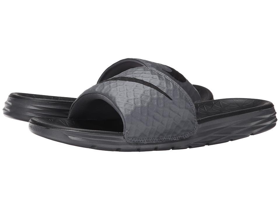 Nike Benassi Solarsoft Slide 2 (Dark Grey/Black) Men's Sl...