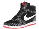 Nike Force Sky High Sneaker Wedge (Black/University Red/White/White)