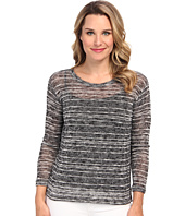 Nally & Millie - L/S High Low Sweater Tunic w/ Pleated Back