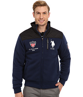 U.S. POLO ASSN. - Quilted Yoke Full Zip Fleece Zip Up