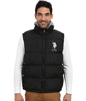 U.S. POLO ASSN. - Basic Puffer Vest w/ Fleece Hood