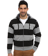 U.S. POLO ASSN. - Sherpa Lined Rugby Stripe Full Zip Hoodie
