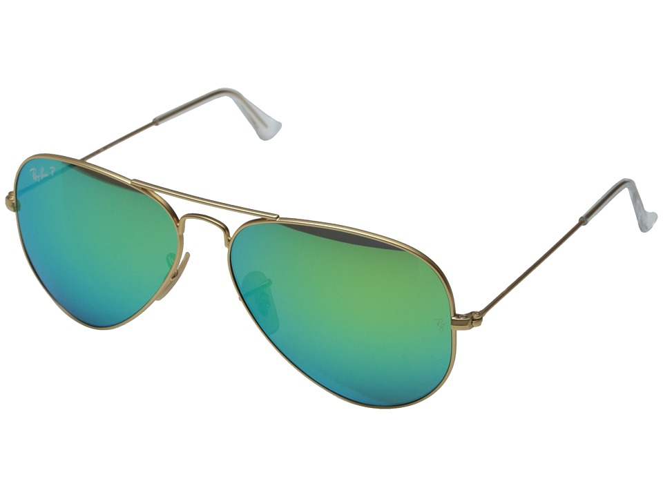 rb 4026  Ray-Ban RB3025 Aviator Polarized Flash Lenses 58mm - Zappos.com ...