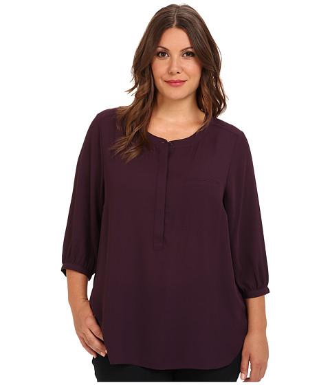 NYDJ Plus Size Plus Size Georgette Blouse (Plum) Women's Blouse