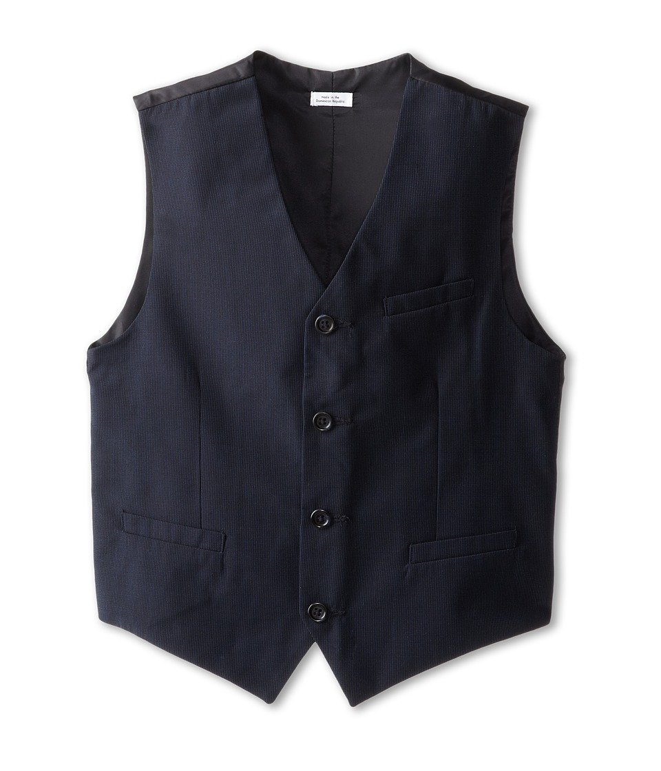 Calvin Klein Kids - CK Pinstripe Vest (Big Kids) (Navy) Boys Jacket