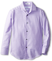 Calvin Klein Kids - L/S Rope Stripe Dress Shirt (Big Kids)