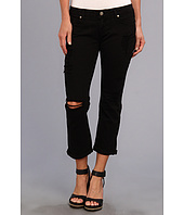 Paige - Jimmy Jimmy Crop in Black Destructed