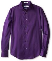 Calvin Klein Kids - L/S Sateen Dress Shirt (Big Kids)