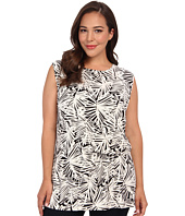 DKNYC - Plus Size Sleeveless Side Ruched Top