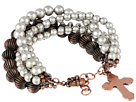 Gypsy SOULE - Multi Strand Silver and Copper Bead Bracelet (Silver/Copper)