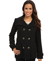 Jessica Simpson - Double Breasted Chail Wool Coat with Military Buttons