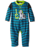 le top - Rock On Heathered Stripe Coverall Puppy (Newborn)