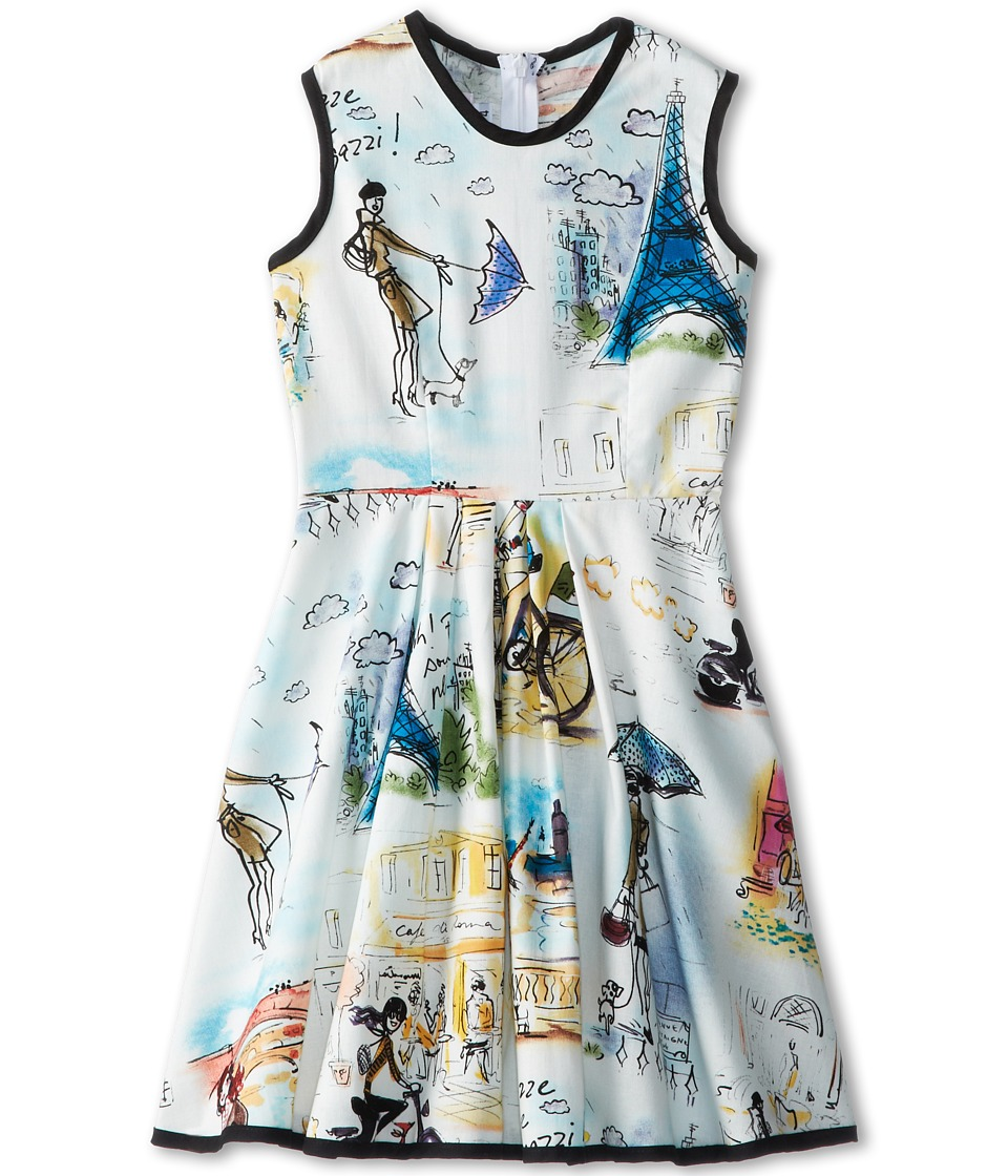 fiveloaves twofish Girl In Paris Dress Little Kids/Big Kids White/Multi Girls Dress