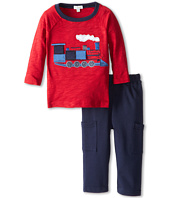 le top - All Aboard Shirt & Navy French Terry Pant Train (Infant/Toddler)