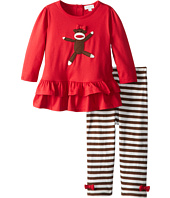 le top - Spunky Monkey - Tunic and Striped Legging (Infant/Toddler/Little Kids)