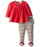 le top - Spunky Monkey - Top and Footed Stripe Pant - 3 Little Monkeys & Monkey Toes (Newborn)